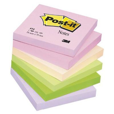 Post-It 3m  76 X 76 Mm Pastel Tonları 100 Yaprak (654fl) Not Kağıdı