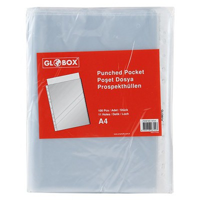 Globox Poşet  A4 100'lü Paket Dosya