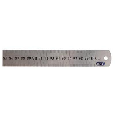 MAS 2400 Çelik Cetvel 100 cm Çizim Gereçleri