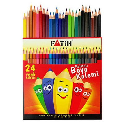 Fatih 24 Renk Tam Boy Boyakalemi Resim Malzemeleri