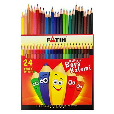 Fatih 24 Renk Tam Boy Boyakalemi Kuru Boya