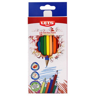 Lets 12 Renk Tam Boy Boya Kalemi L-4120 Resim Malzemeleri