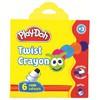 Play-doh 6 Renk Silinebilir Crayon Mum Boya 10mm Resim Malzemeleri