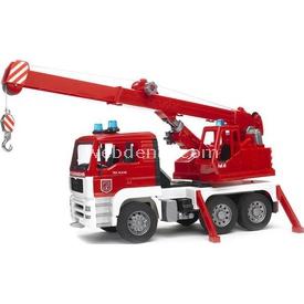 Bruder Man Vinçli Kamyon Iş Makinası Kırmızı Erkek Çocuk Oyuncakları