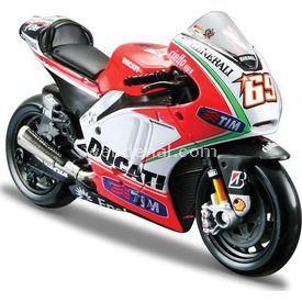 Maisto 1:18 Ducati Nicky Hayden 2012 Model Motosiklet Arabalar