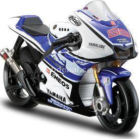 Maisto 1:18 Yamaha Jorge Lorenzo Model Motosiklet Arabalar