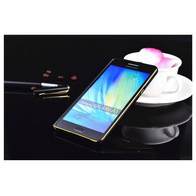 Microsonic Samsung Galaxy A7 Thin Metal Çerçeve Kılıf Siyah Cep Telefonu Kılıfı