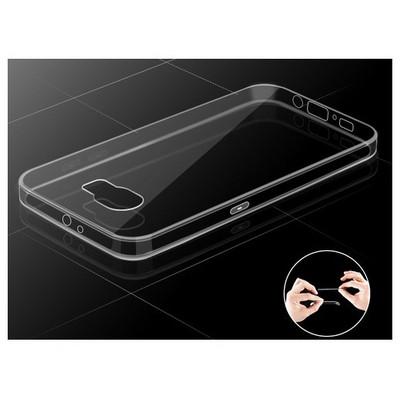 Microsonic Transparent Soft Samsung Galaxy S6 Edge Kılıf Altın Sarısı Cep Telefonu Kılıfı