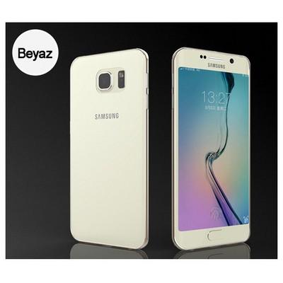 Microsonic Transparent Soft Samsung Galaxy S6 Edge Kılıf Beyaz Cep Telefonu Kılıfı