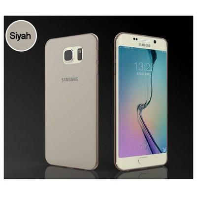 Microsonic Transparent Soft Samsung Galaxy S6 Edge Kılıf Siyah Cep Telefonu Kılıfı