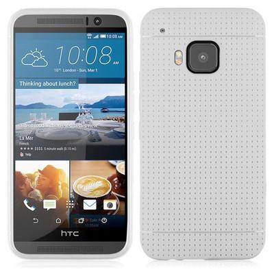 Microsonic Dot Style Silikon Htc One M9 Kılıf Beyaz Cep Telefonu Kılıfı