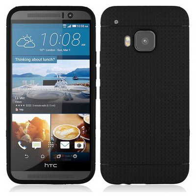 Microsonic Dot Style Silikon Htc One M9 Kılıf Siyah Cep Telefonu Kılıfı