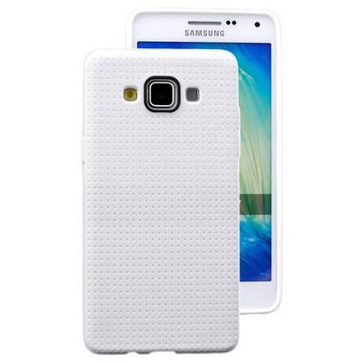 Microsonic Dot Style Silikon Samsung Galaxy A3 Kılıf Beyaz Cep Telefonu Kılıfı