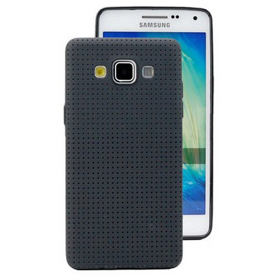 Microsonic Dot Style Silikon Samsung Galaxy E5 Kılıf Siyah Cep Telefonu Kılıfı
