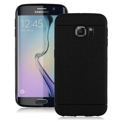 Microsonic Dot Style Silikon Samsung Galaxy S6 Edge Kılıf Siyah Cep Telefonu Kılıfı