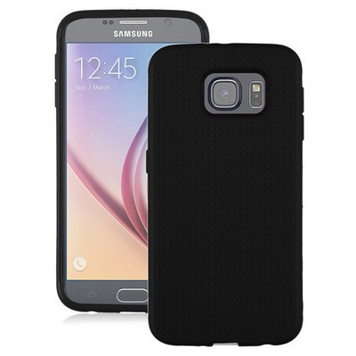 Microsonic Dot Style Silikon Samsung Galaxy S6 Kılıf Siyah Cep Telefonu Kılıfı