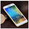Microsonic Samsung Galaxy E5 Thin Metal Çerçeve Kılıf Altın Sarısı Cep Telefonu Kılıfı