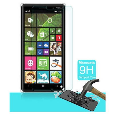 Microsonic Temperli Cam Ekran Koruyucu Nokia Lumia 830 Kırılmaz Film Ekran Koruyucu Film