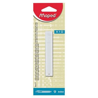 Maped 640717 Dar Maket Bıçağı Yedeği 9 Mm 10 Adet Kesim Aleti