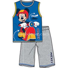 Mickey Mouse Mc3929 Pijama Takımı Saks 2 Yaş (92 Cm) Erkek Bebek Pijaması