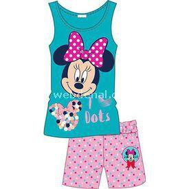 Minnie Mouse Mn3867 Kız Pijama Takımı Turkuaz 2 Yaş (92 Cm) Kız Bebek Pijaması
