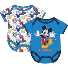 Mickey Mouse Mc4216 2li Erkek Kısakol Body Mavi 12-18 Ay (80-86 Cm) Erkek Bebek Body