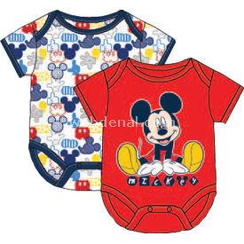Mickey Mouse Mc4217 Erkek 2li Kısakol Body Kırmızı 0-3 Ay (56-62 Cm) Erkek Bebek Body