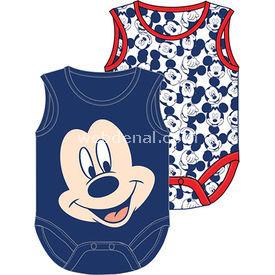 Mickey Mouse Mc4205 2li Erkek Body Lacivert 9-12 Ay (74-80 Cm) Erkek Bebek Body