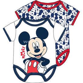 Mickey Mouse Mc4213 2li Kısakol Body Beyaz 9-12 Ay (74-80 Cm) Erkek Bebek Body