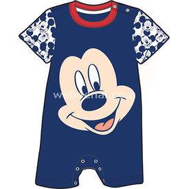 Mickey Mouse Mc4228 Erkek Kısakol Tulum Lacivert 6-9 Ay (68-74 Cm) Bebek Tulumu