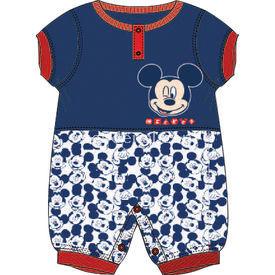 Mickey Mouse Mc4234 Erkek Ribanalı Kısakol Tulum Lacivert 3-6 Ay (62-68 Cm) Bebek Tulumu