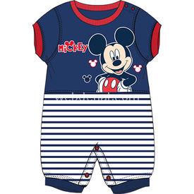 Mickey Mouse Mc4232 Erkek Ribanalı Kısakol Tulum Lacivert 3-6 Ay (62-68 Cm) Bebek Tulumu
