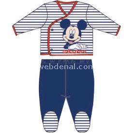 Mickey Mouse Mc4259 Erkek Zıbın Takım Lacivert 0-3 Ay (56-62 Cm) Erkek Bebek Takım