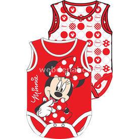 Minnie Mouse Mn4917 Kız 2li Body Kırmızı 0-3 Ay (56-62 Cm) Kız Bebek Body