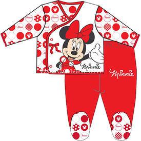 Minnie Mouse Mn4727 Kız Zıbın Takım Kırmızı 3-6 Ay (62-68 Cm) Kız Bebek Body