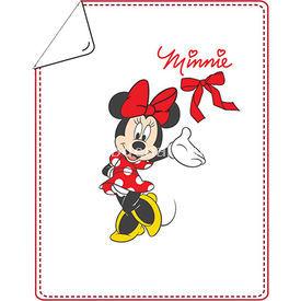 Minnie Mouse Mn4425 Kız Battaniye Beyaz Bebek Battaniyesi