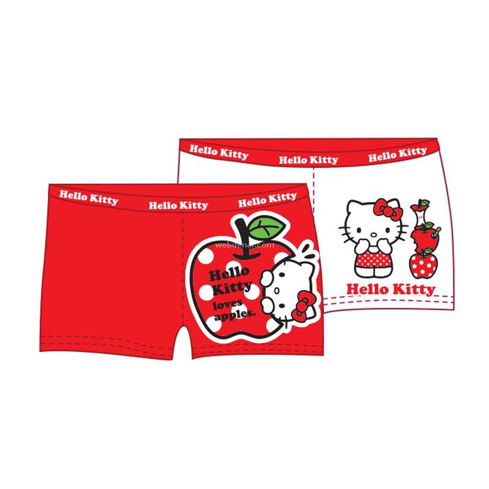 Hello Kitty Hk2034 2li Kız Boxer Kırmızı-beyaz 5 Yaş (110 Cm) Kız Bebek Çamaşırı