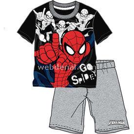 Spider Man Spiderman Sp4077 Erkek Pijama Takımı Siyah 7 Yaş (122 Cm) Erkek Bebek Pijaması