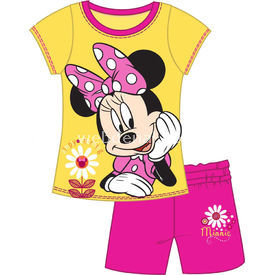 Minnie Mouse Nn4098 Kız Pijama Takımı Sarı 2 Yaş (92 Cm) Kız Bebek Pijaması
