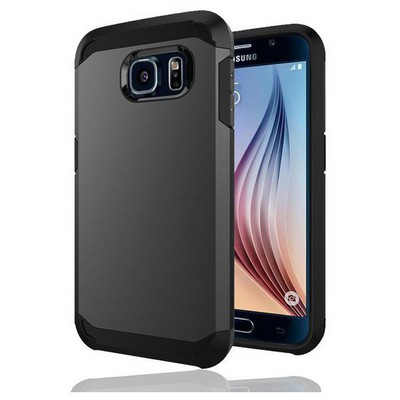 Microsonic Slim Fit Dual Layer Armor Samsung Galaxy S6 Kılıf Gri Cep Telefonu Kılıfı