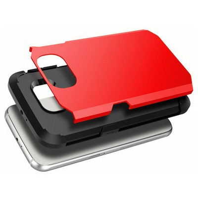 Microsonic Slim Fit Dual Layer Armor Samsung Galaxy S6 Kılıf Kırmızı Cep Telefonu Kılıfı