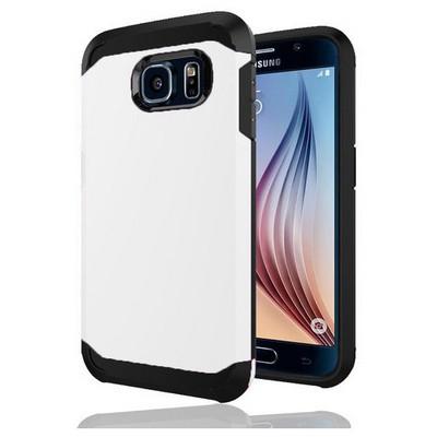 Microsonic Slim Fit Dual Layer Armor Samsung Galaxy S6 Kılıf Beyaz Cep Telefonu Kılıfı