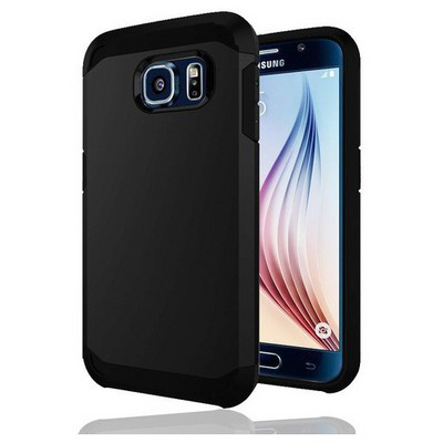 Microsonic Slim Fit Dual Layer Armor Samsung Galaxy S6 Kılıf Siyah Cep Telefonu Kılıfı