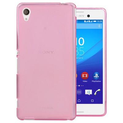 Microsonic Transparent Soft Sony Xperia M4 Aqua Kılıf Pembe Cep Telefonu Kılıfı