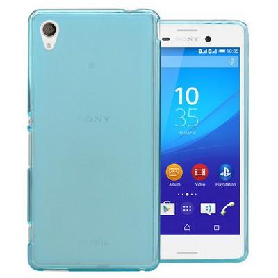 Microsonic Transparent Soft Sony Xperia M4 Aqua Kılıf Mavi Cep Telefonu Kılıfı