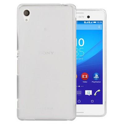 Microsonic Transparent Soft Sony Xperia M4 Aqua Kılıf Beyaz Cep Telefonu Kılıfı