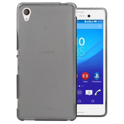 Microsonic Transparent Soft Sony Xperia M4 Aqua Kılıf Siyah Cep Telefonu Kılıfı