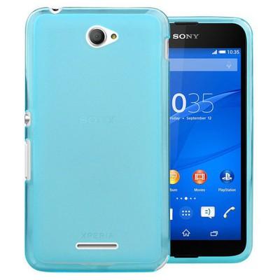 Microsonic Transparent Soft Sony Xperia E4 5.0'' Kılıf Mavi Cep Telefonu Kılıfı