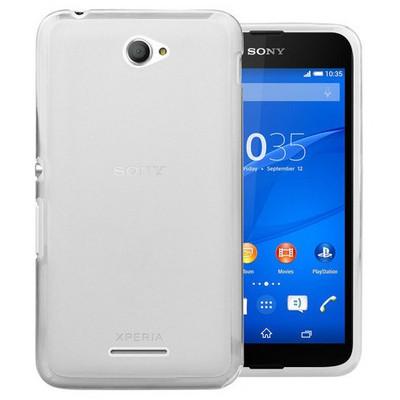 Microsonic Transparent Soft Sony Xperia E4 5.0'' Kılıf Beyaz Cep Telefonu Kılıfı