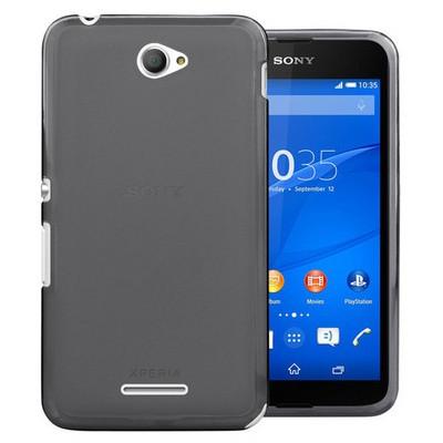 Microsonic Transparent Soft Sony Xperia E4 5.0'' Kılıf Siyah Cep Telefonu Kılıfı
